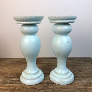 tag®️ Upcycled Pair of Chunky Candle Sticks
